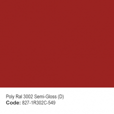POLYESTER RAL 3002 Semi-Gloss (D)