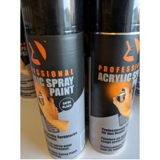 Aerosol Black Satin Stock 500ml